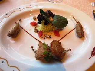 The quail cooked to perfection