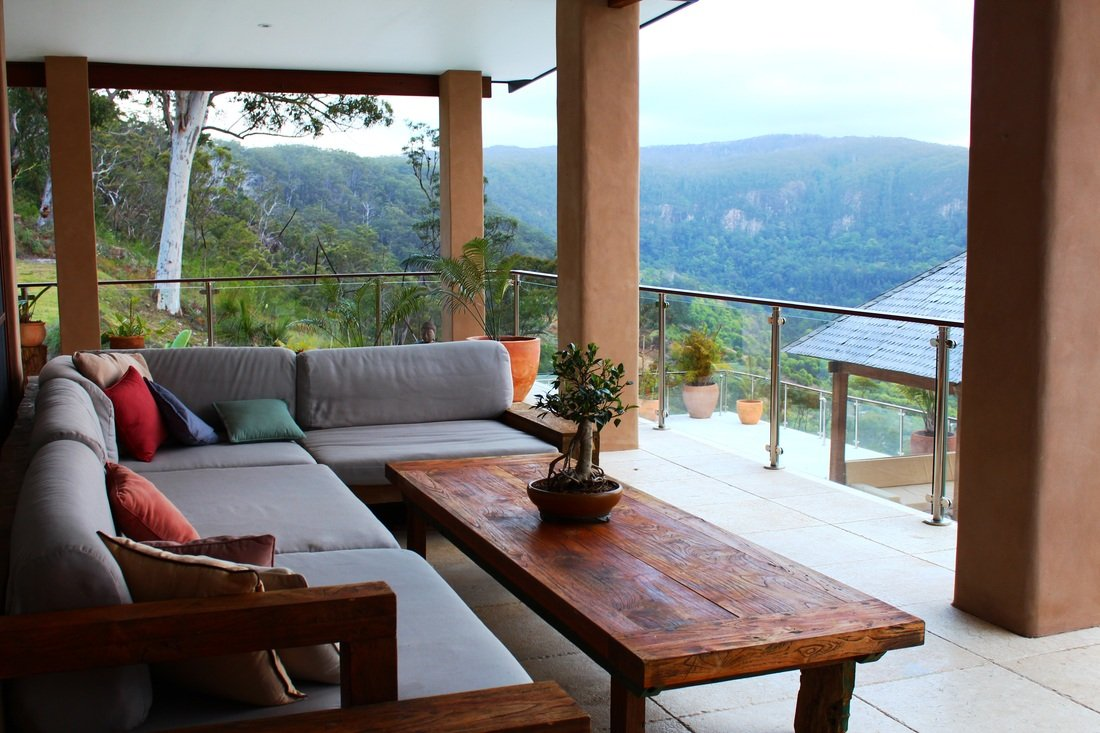 The balcony with views to forever