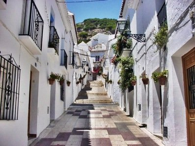 One of the many whitewashed mountain villages of Costa Del Sol