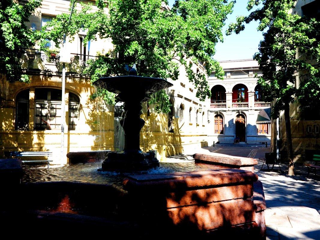 Into small plazas