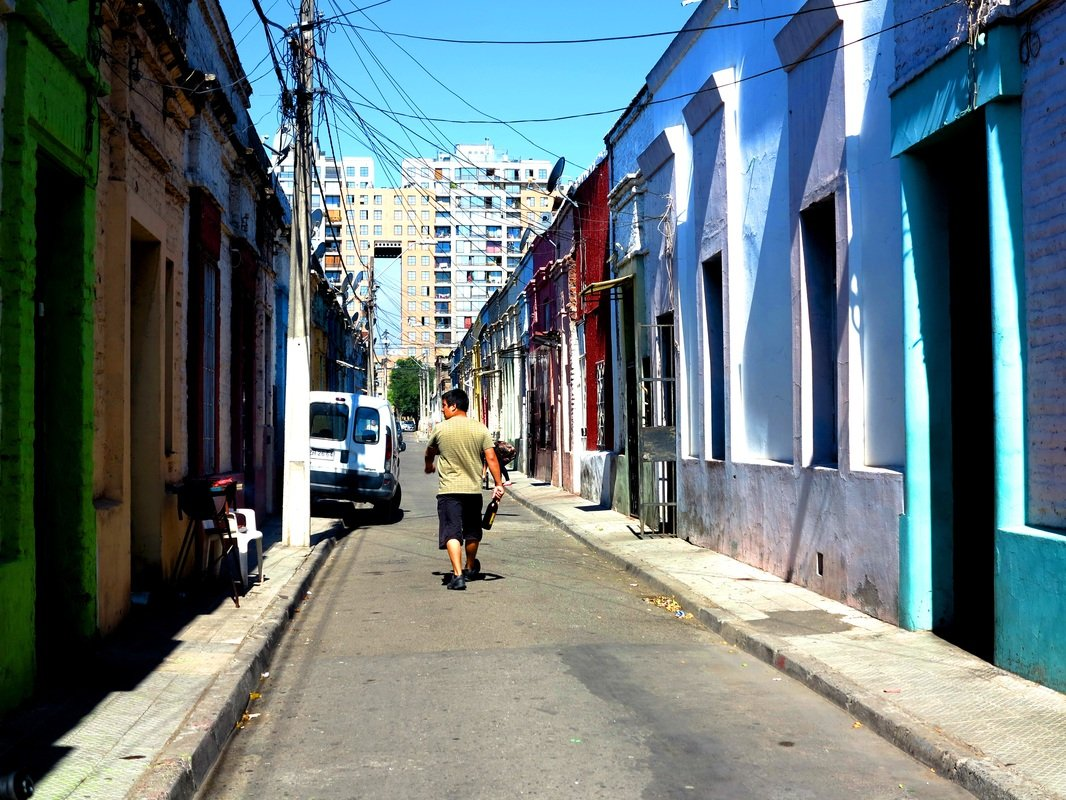 Down colourful, quiet streets