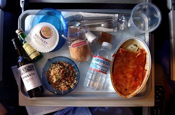 Mmm... plane food.