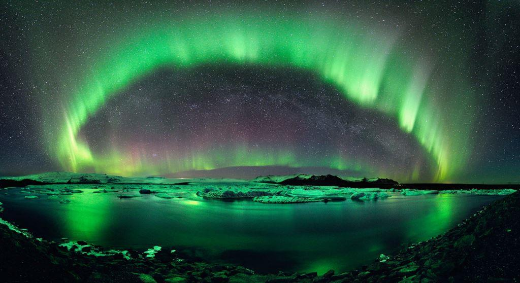 Northern lights, or Aurora Borealis