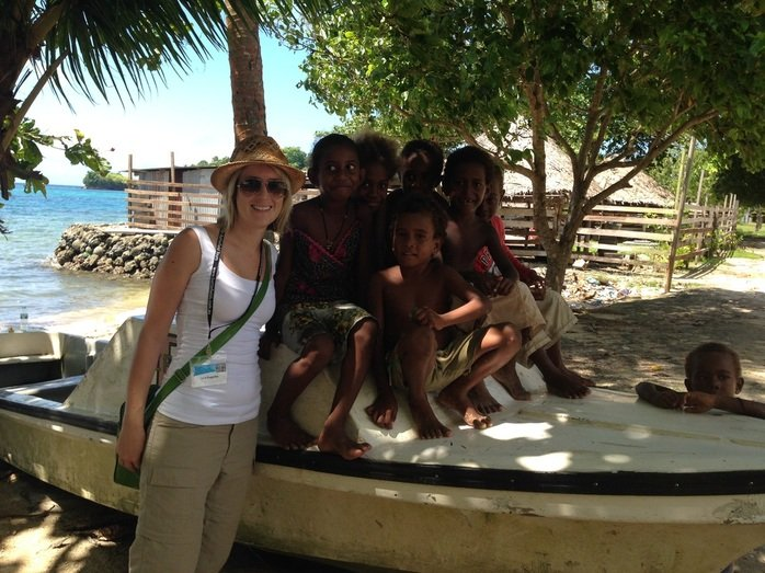 Chilling with the local kids, Tulagi, Vanutatu