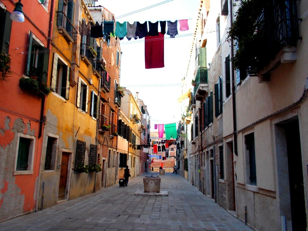 Away from the main streets in Venice, Italy