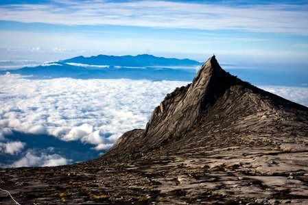 Clouds provide mood to your photos - Mount Kinabalu, Borneo