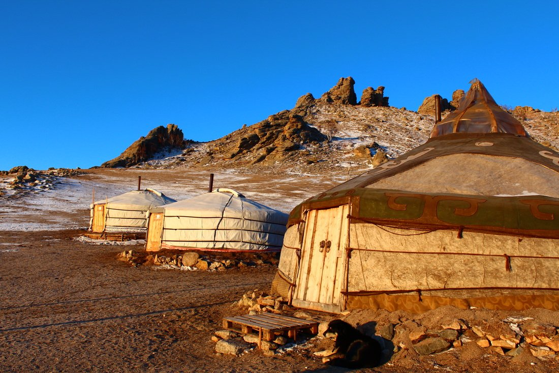 Traditional nomadic Ger camps