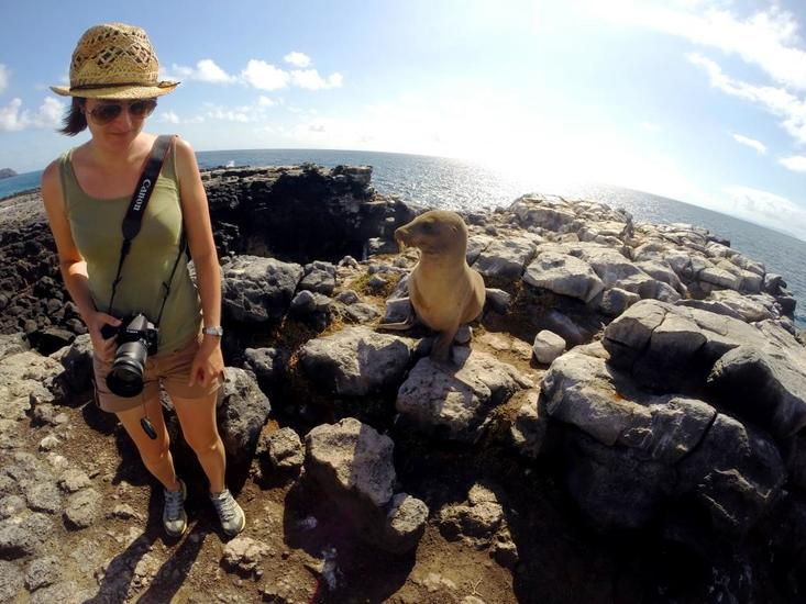 Me and my mate in the Galapagos Islands
