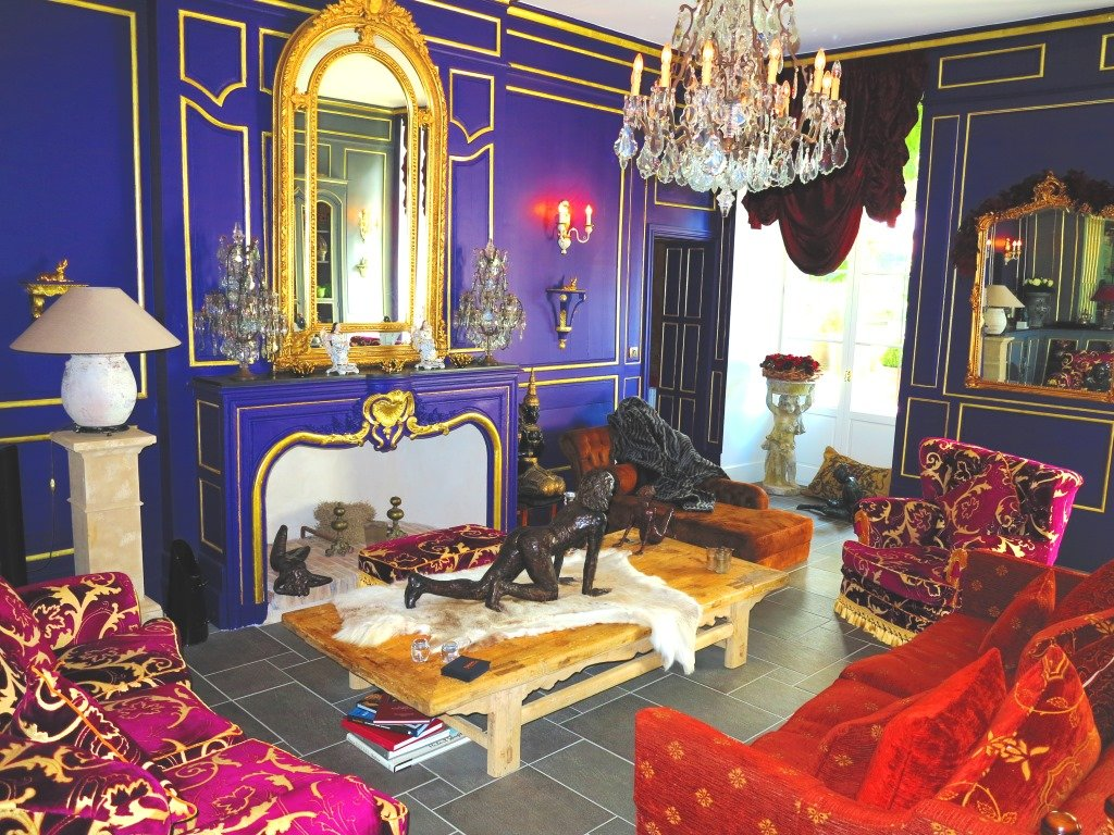 Living room at Chateau De Lamothe