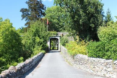 Entrance to Chateau De Lamothe
