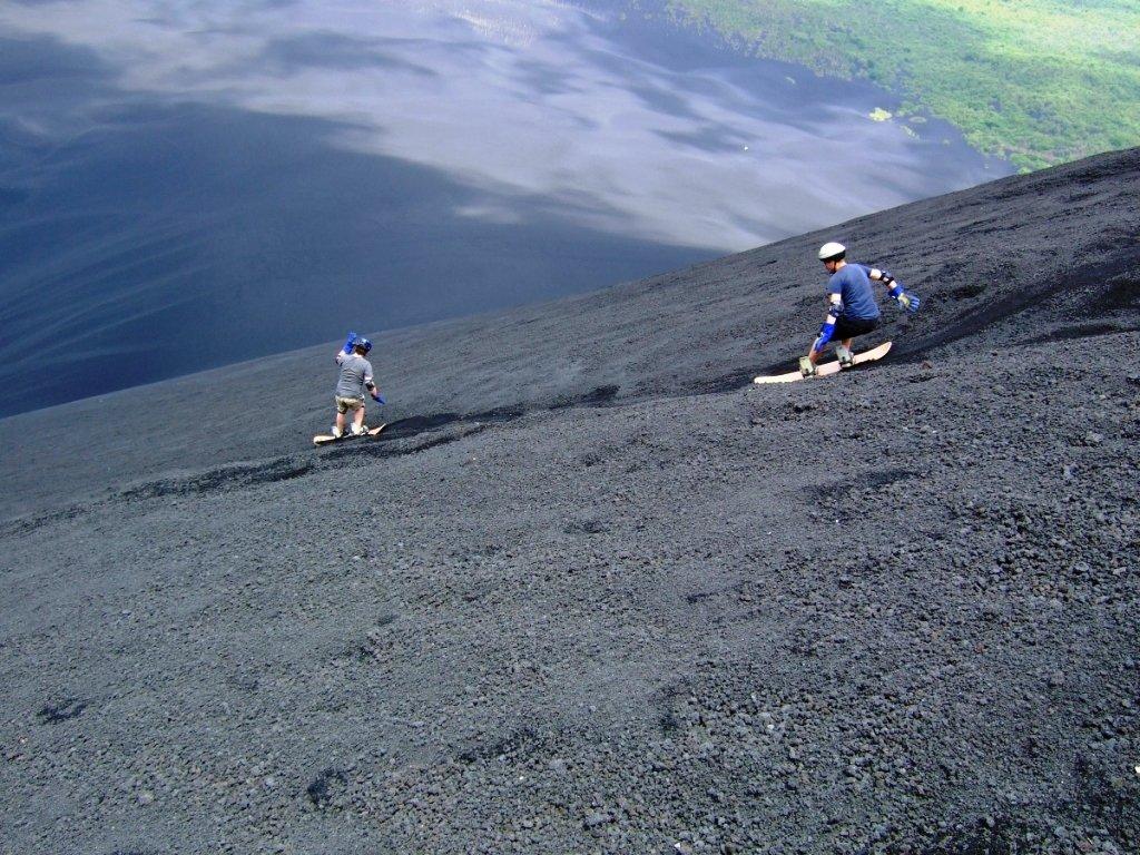 Volcano board on Cerro Negro, Nicaragua
