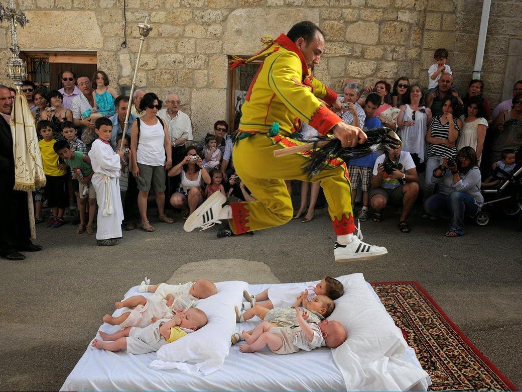 Baby Jumping Festival, Castillo De Murcia, Spain