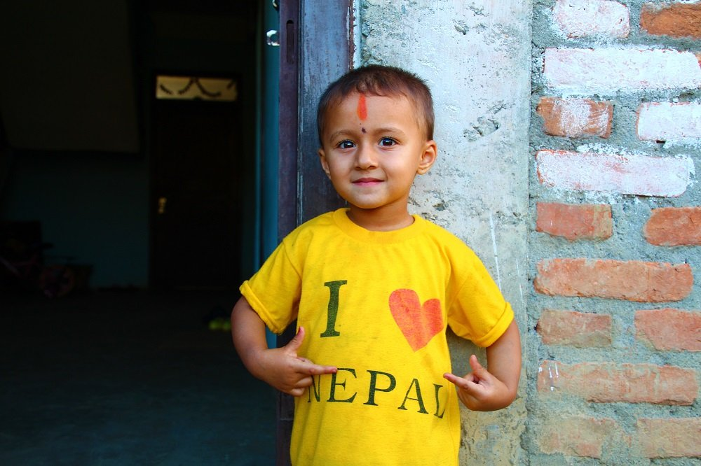 Local boy in Panauti, Kathmandu Valley
