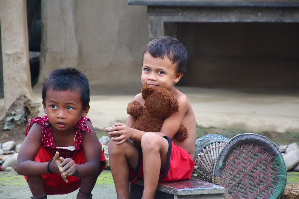 Local Tharu children, Tharu Village, Chitwan.