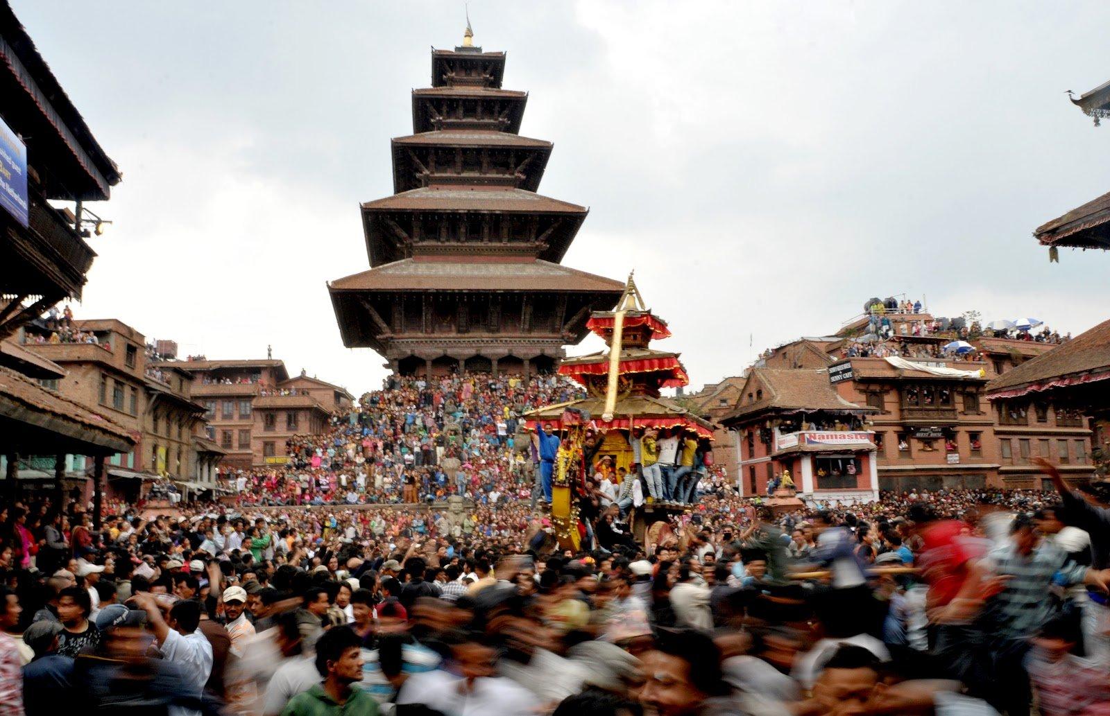 Bisket Jatra, Bhaktapur, Nepal