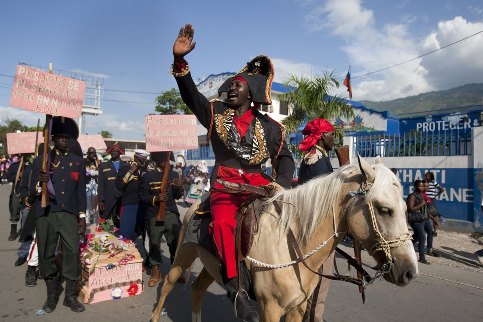 A parade at Dessalines Day.