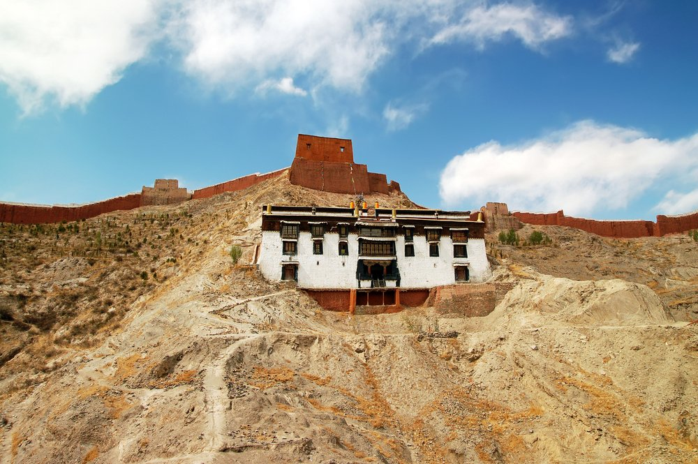 Remote monastery in Tibet