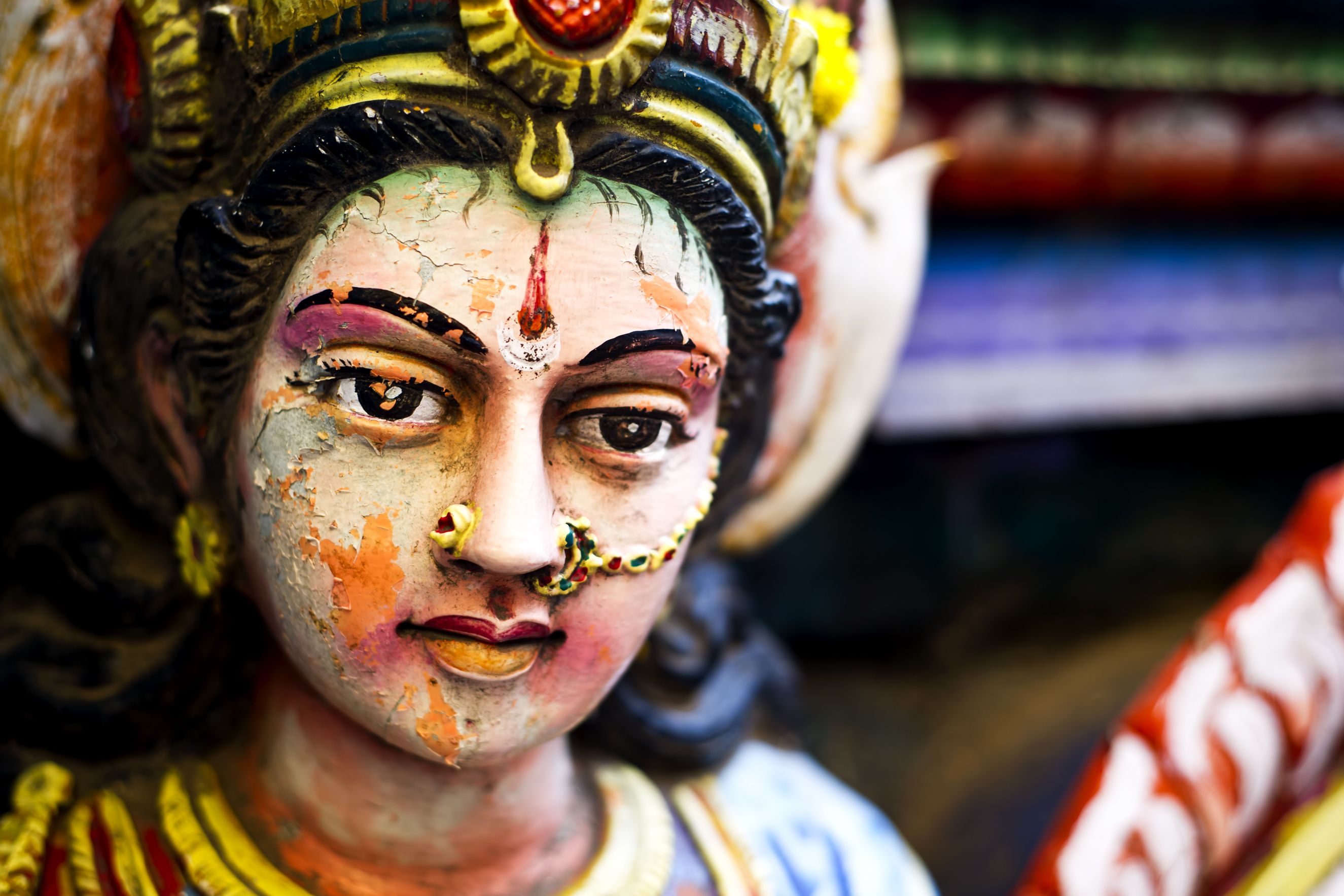 A pandal at Durga Puja.