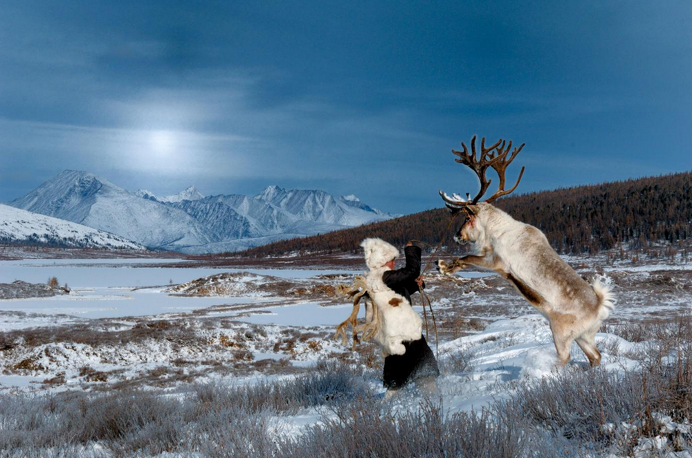 Duhka reindeer tribe winter