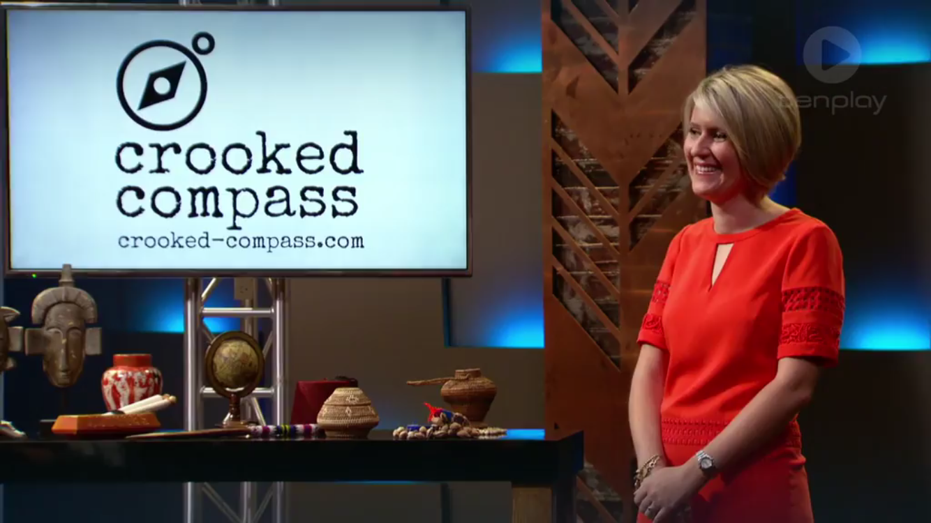 Founder of Crooked Compass, Lisa Pagotto, in 'the tank' - S3, Ep12, Shark Tank Australia