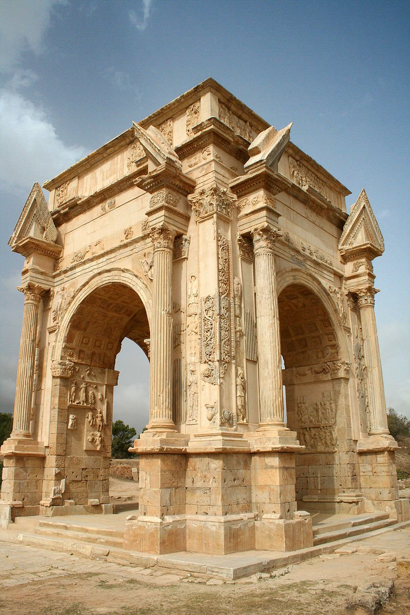 The Arch of Septimius Severus in Leptis Magna