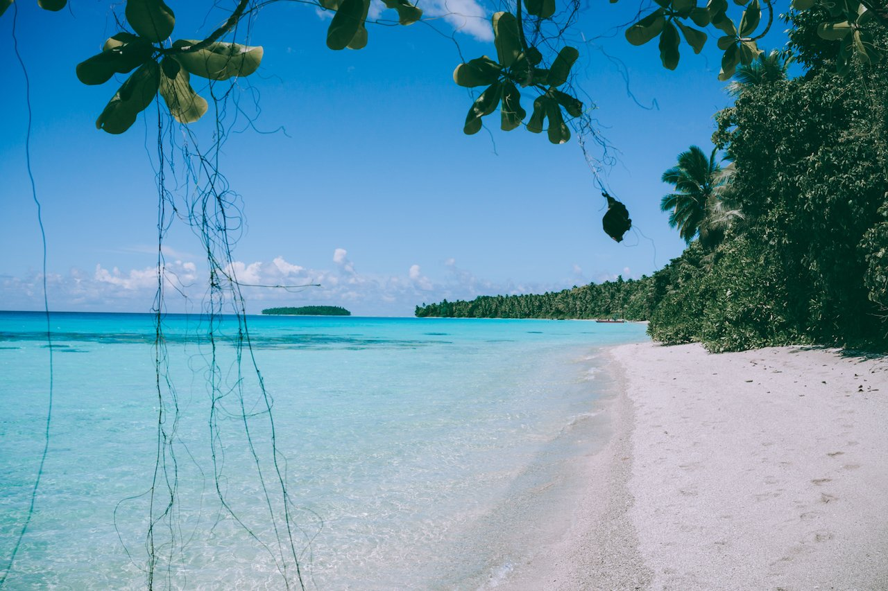Ant Atoll's turquoise lagoon and talcum beaches Photo Credit: Adam Beitz