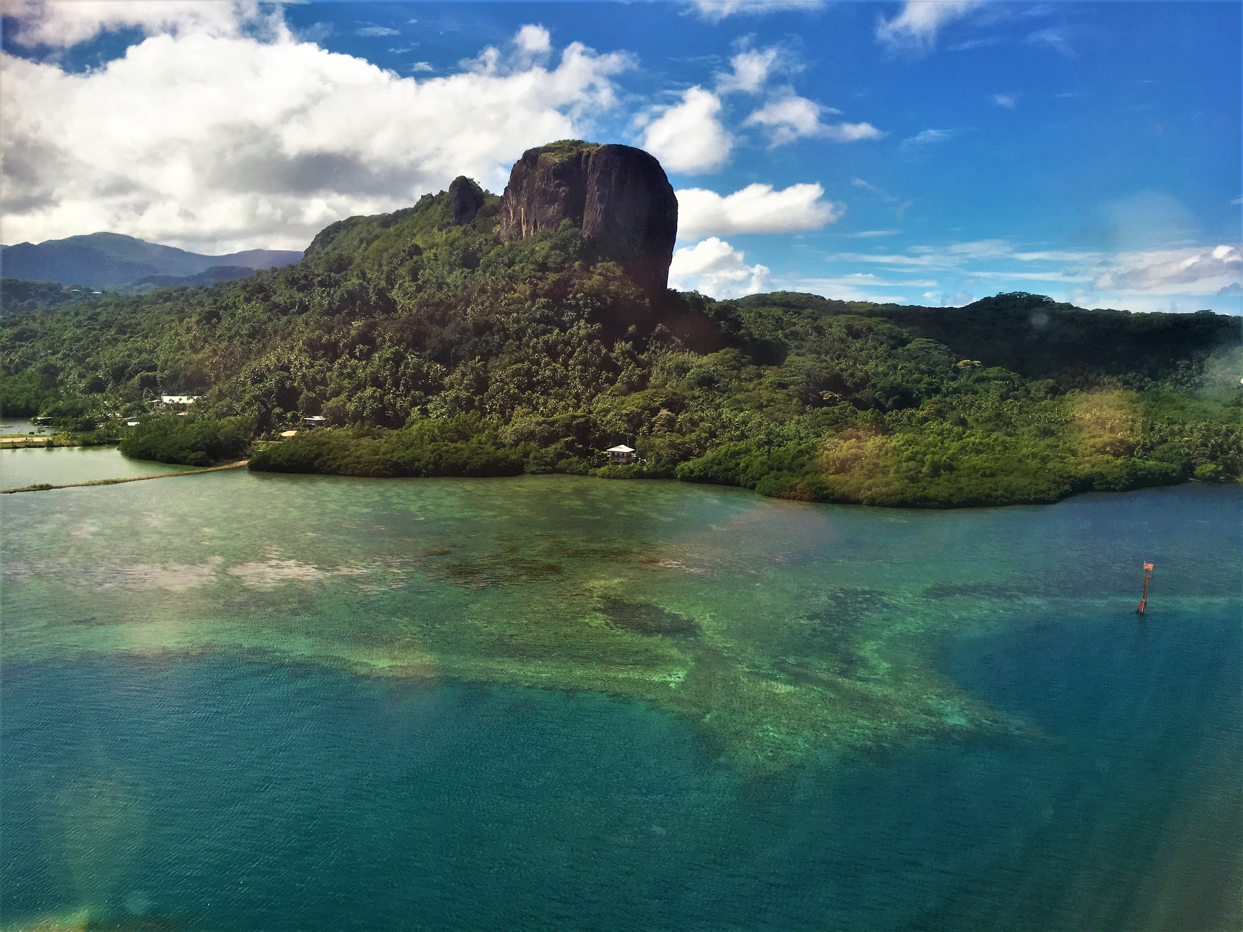 Flying into Pohnpei Photo Credit: Crooked Compass