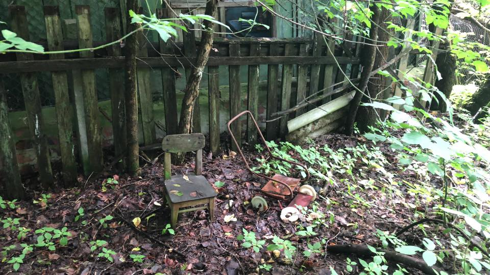 Childrens toys found in the tangle of wild jungle. Photo credit: Crooked Compass