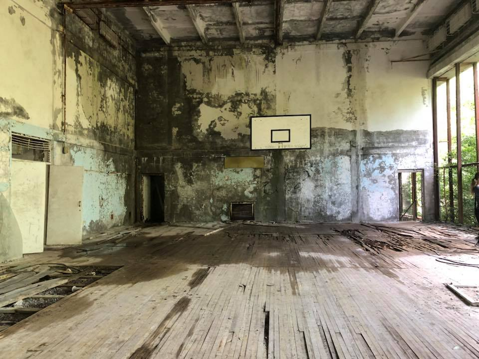 Basketball court. Photo credit: Crooked Compass