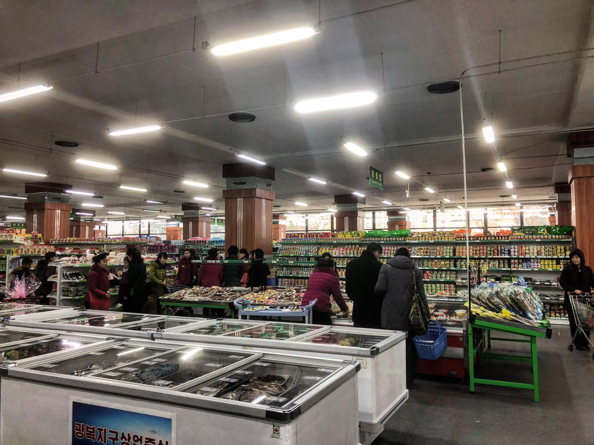Pyongyang Supermarket - Photo Credit: Crooked Compass