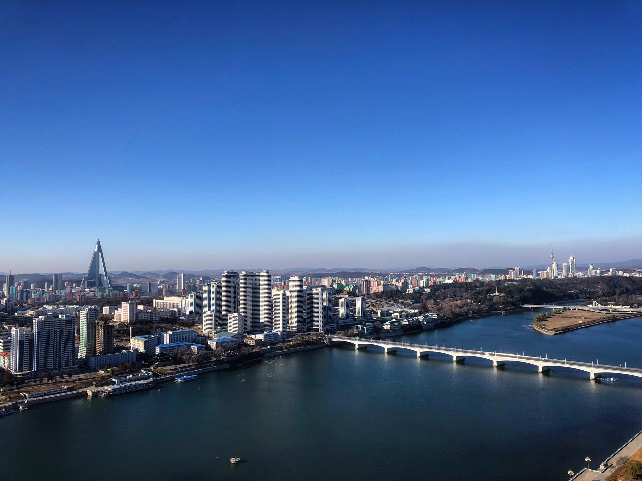 Pyongyang skyline from atop Juche Tower - Photo Credit: Crooked Compass
