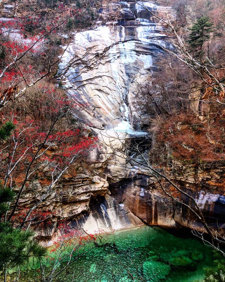 Mt Kumgang frozen waterfall. Photo credit: Crooked Compass