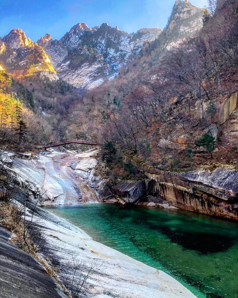 No tourism in North Korea + locals being super proud of their country = untouched nature. This photo transports me straight back to the pristine mountains and takes my breath away. Photo credit: Crooked Compass