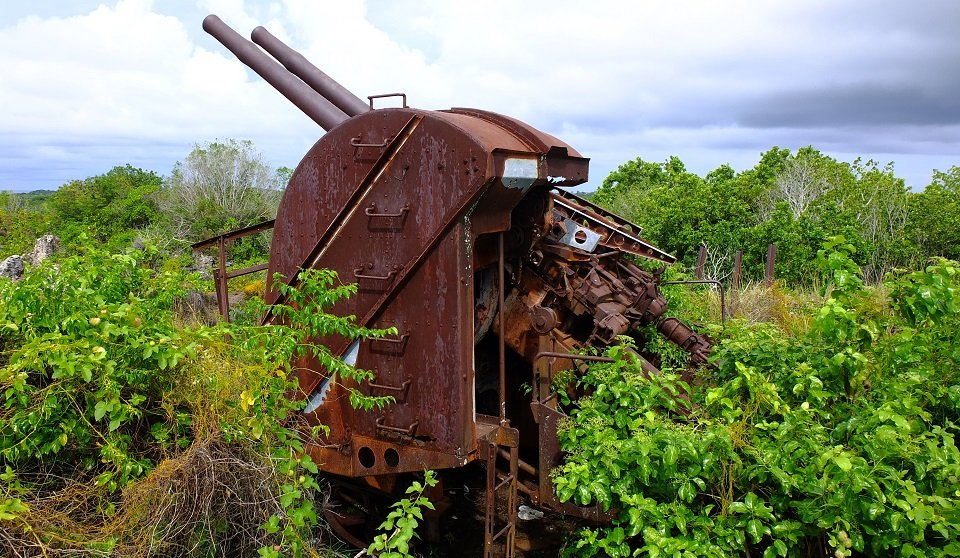 Scattered across Nauru are accessible WWII Japanese guns, bunkers and relics.