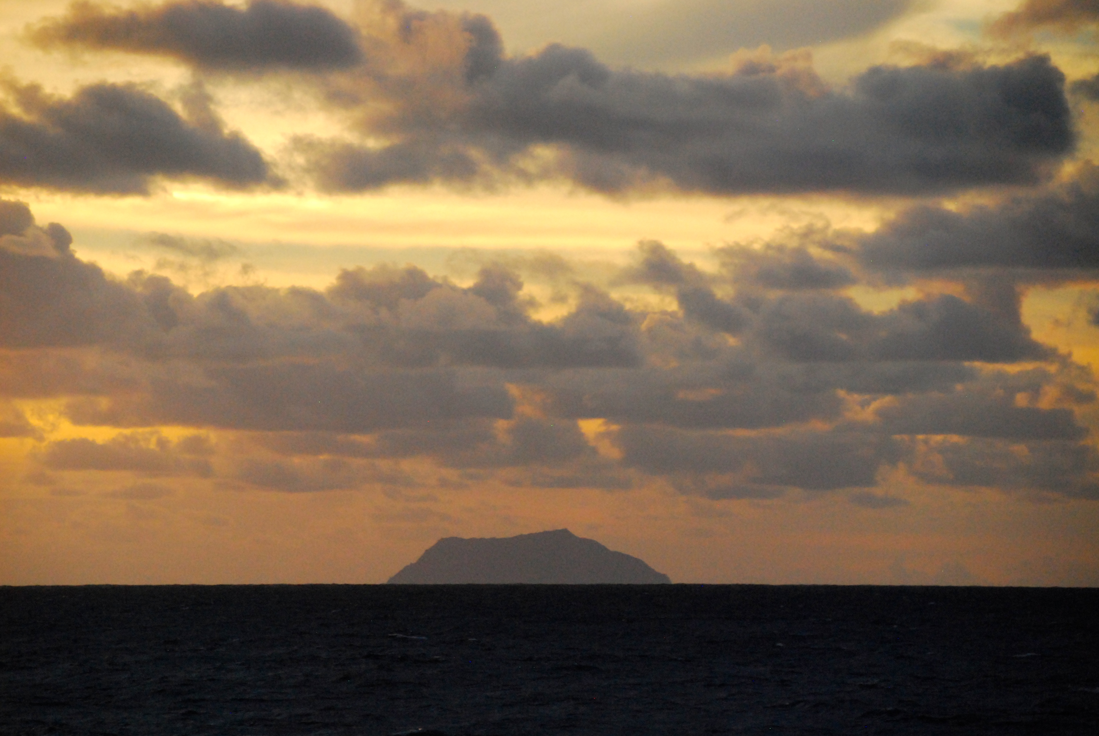 Silhouette of Pitcairn Island - Photo Credit: Lee Mylne