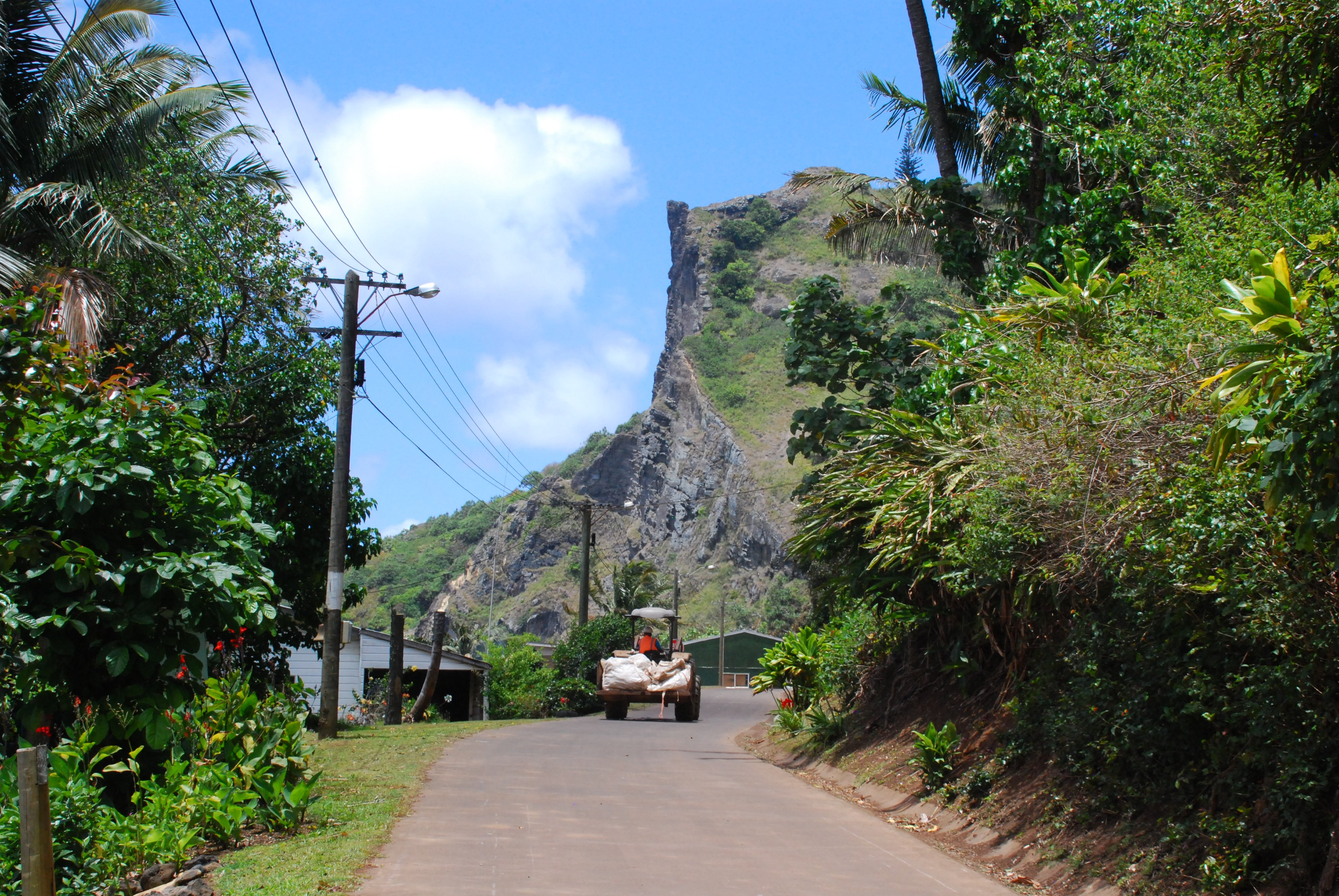 The main road on Pitcairn Island - Photo Credit: Lee Mylne