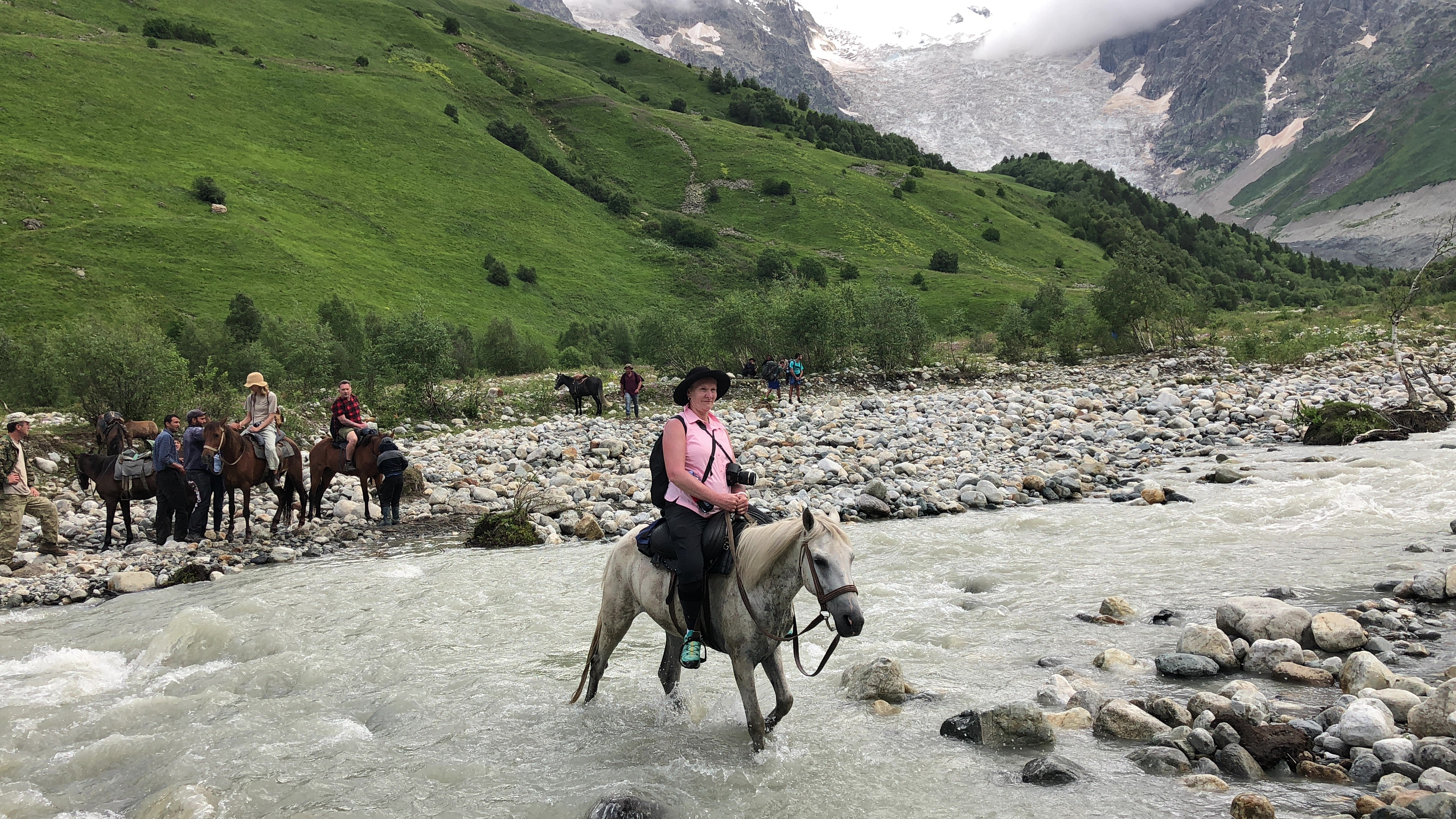 Horse ridig in the Svaneti region is possible. Photo Credit: Crooked Compass
