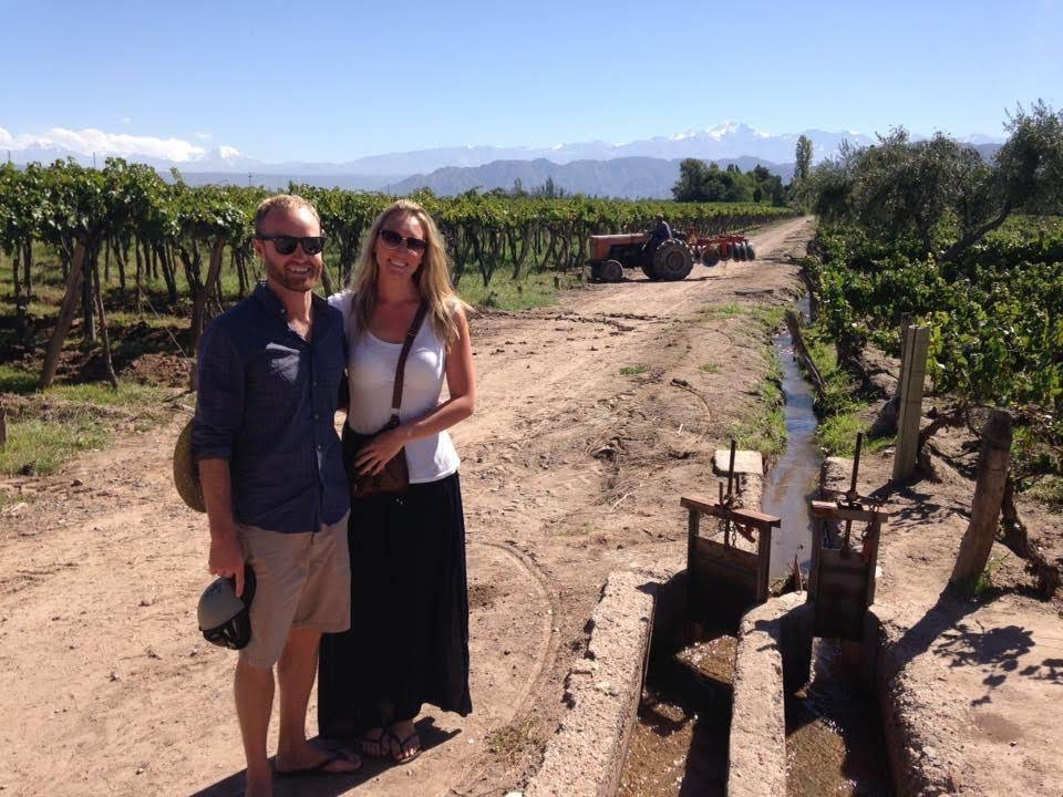 Tim & Ness enjoying some vino in Mendoza, Argentina