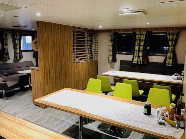 Dining room onboard MV Silver Supporter Photo credit: Pitcairn Islands Tourism