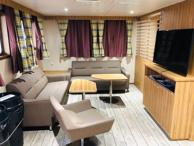 Passenger lounge on MV Silver Supporter