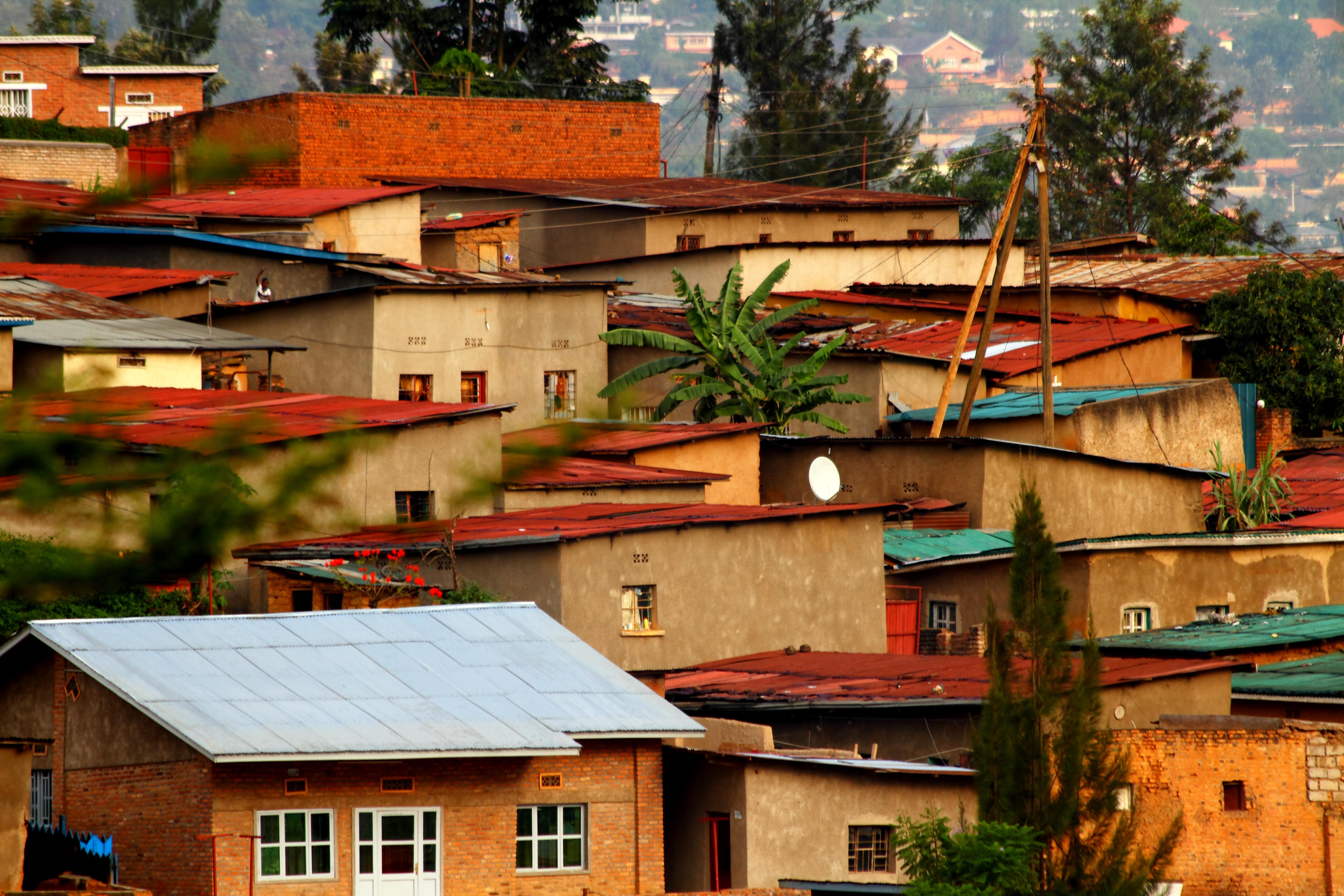 Local homes in Kigali, Rwanda