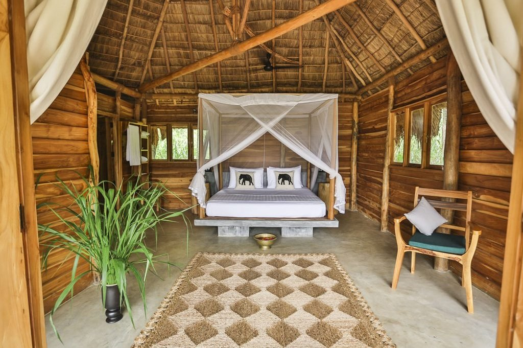 Inside the rooms at Gal Oya. Photo credit: Gal Oya Lodge