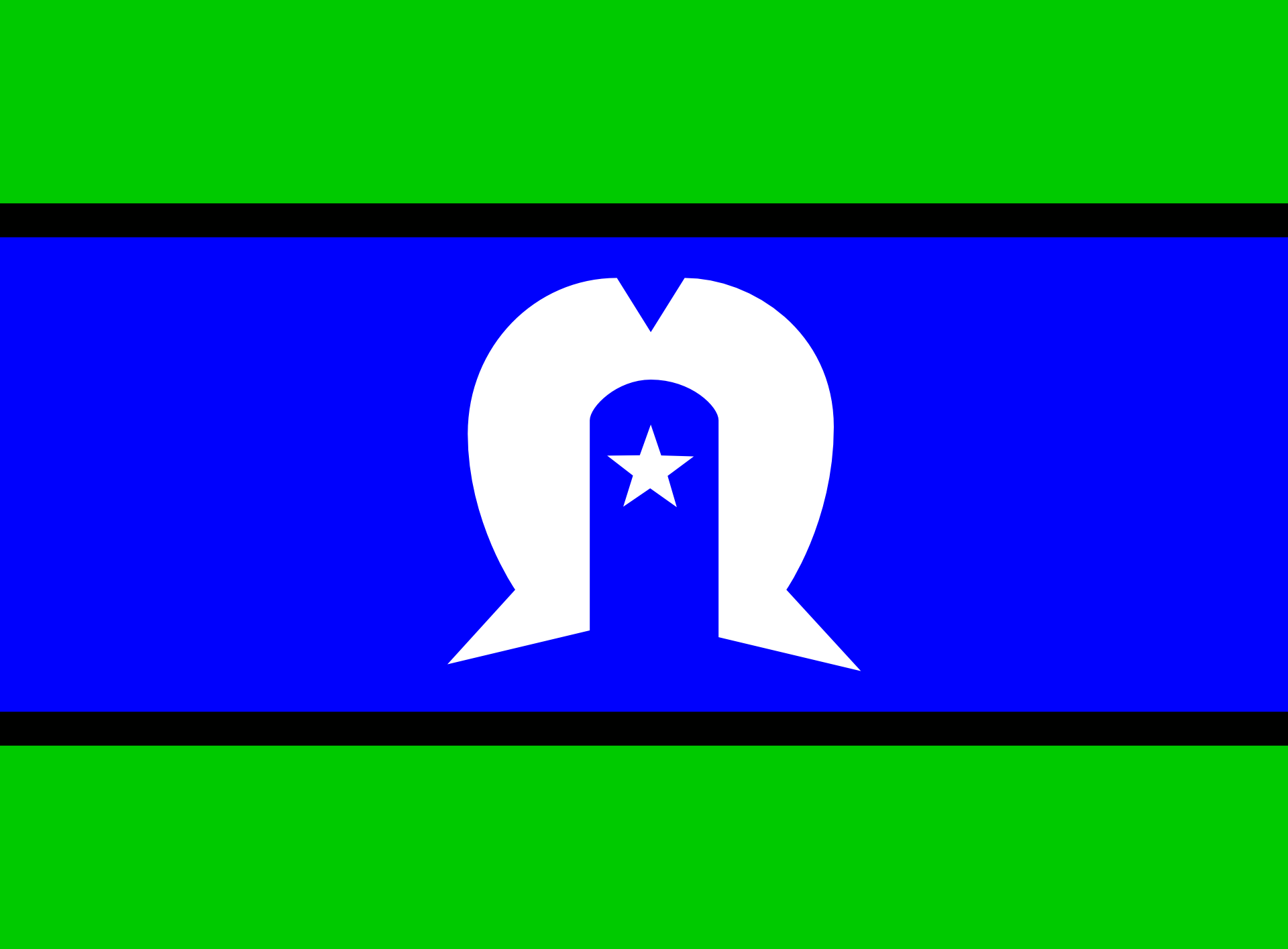 The flag of the Torres Strait Islands