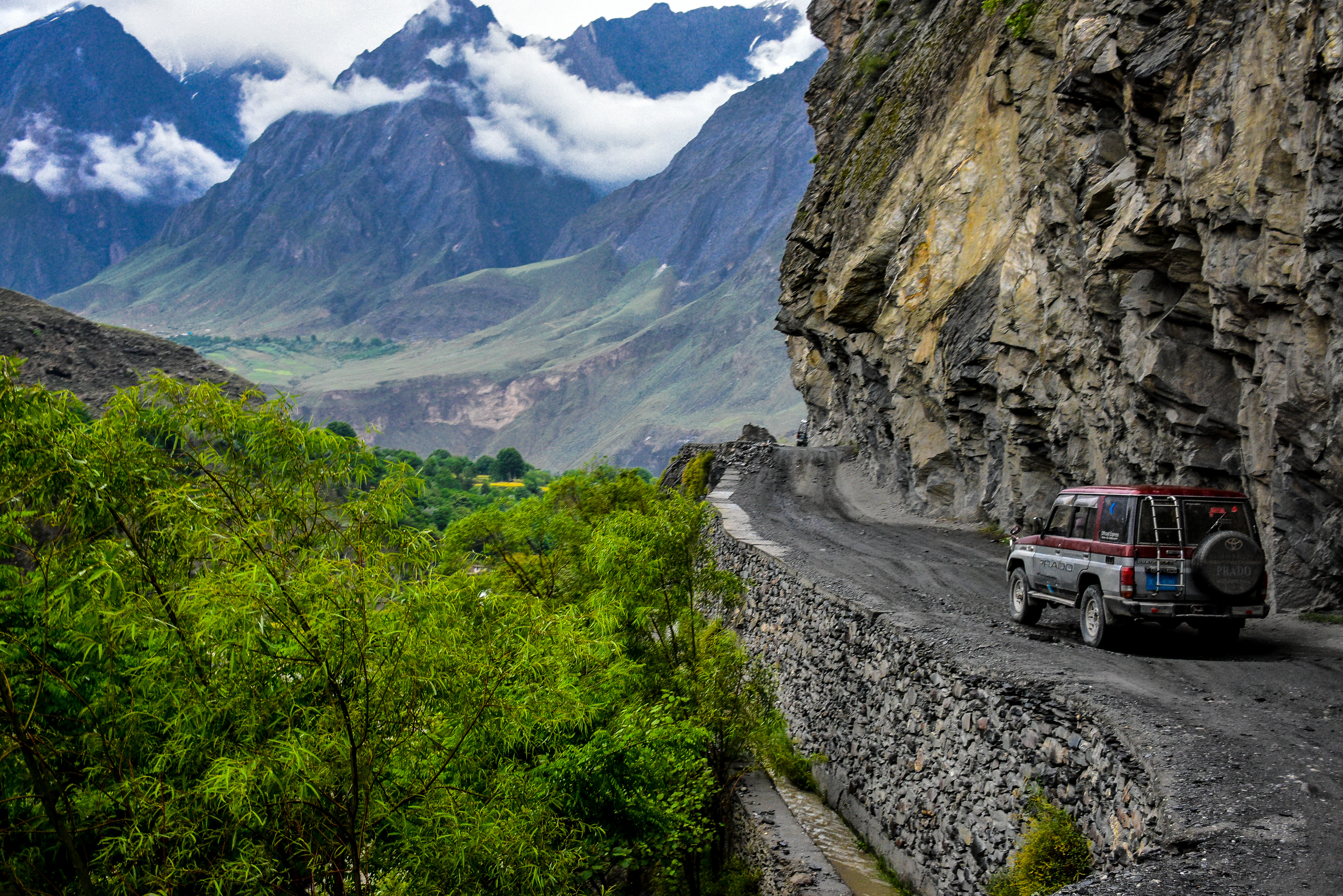 On the way to Kalash Valley via windy and rocky unsealed road.