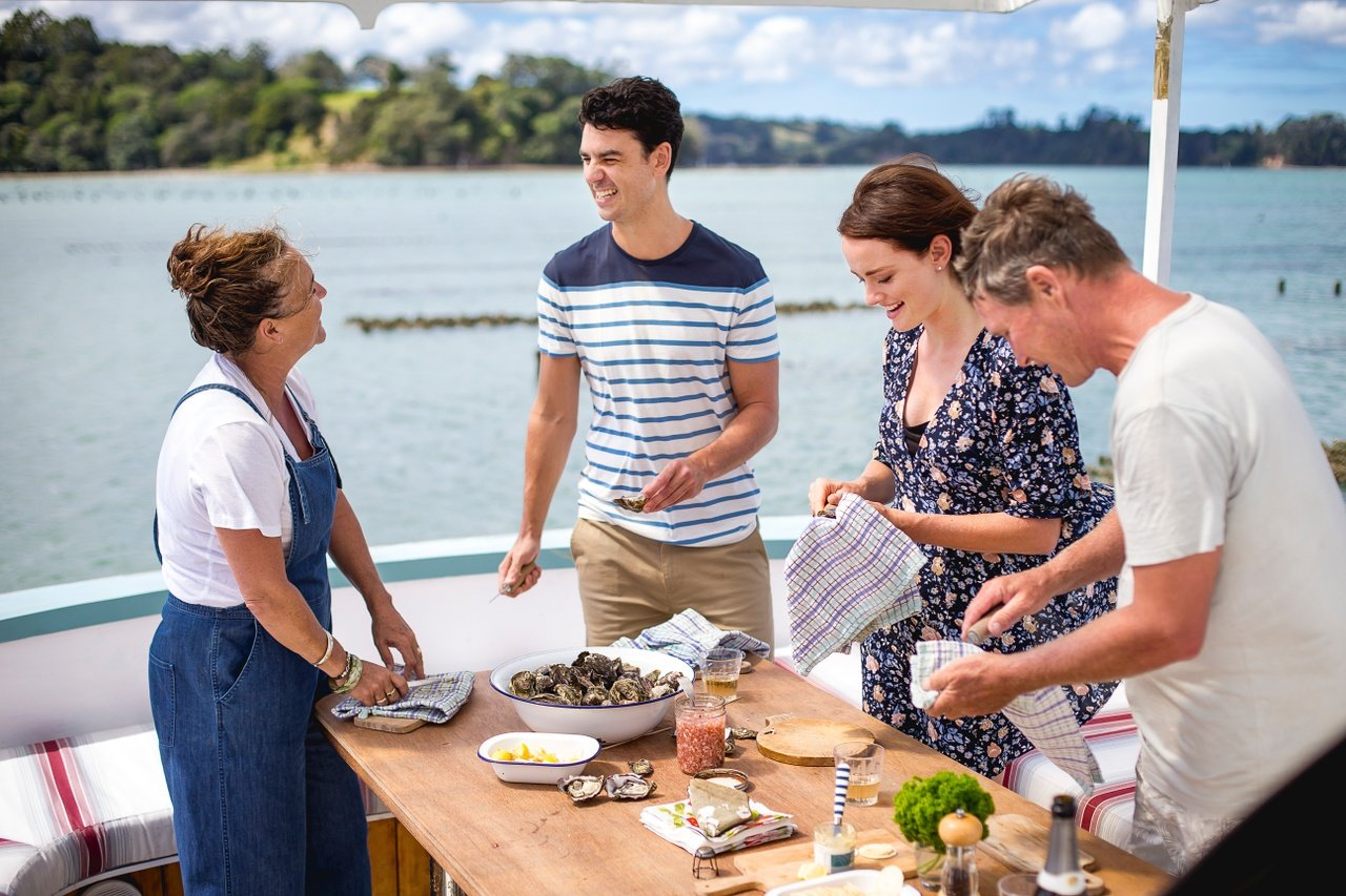 Shucking and slurping oysters straight from the ocean