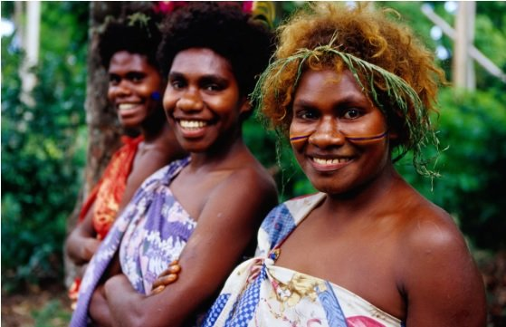 Ladies from Vanuatu's outer Islands
