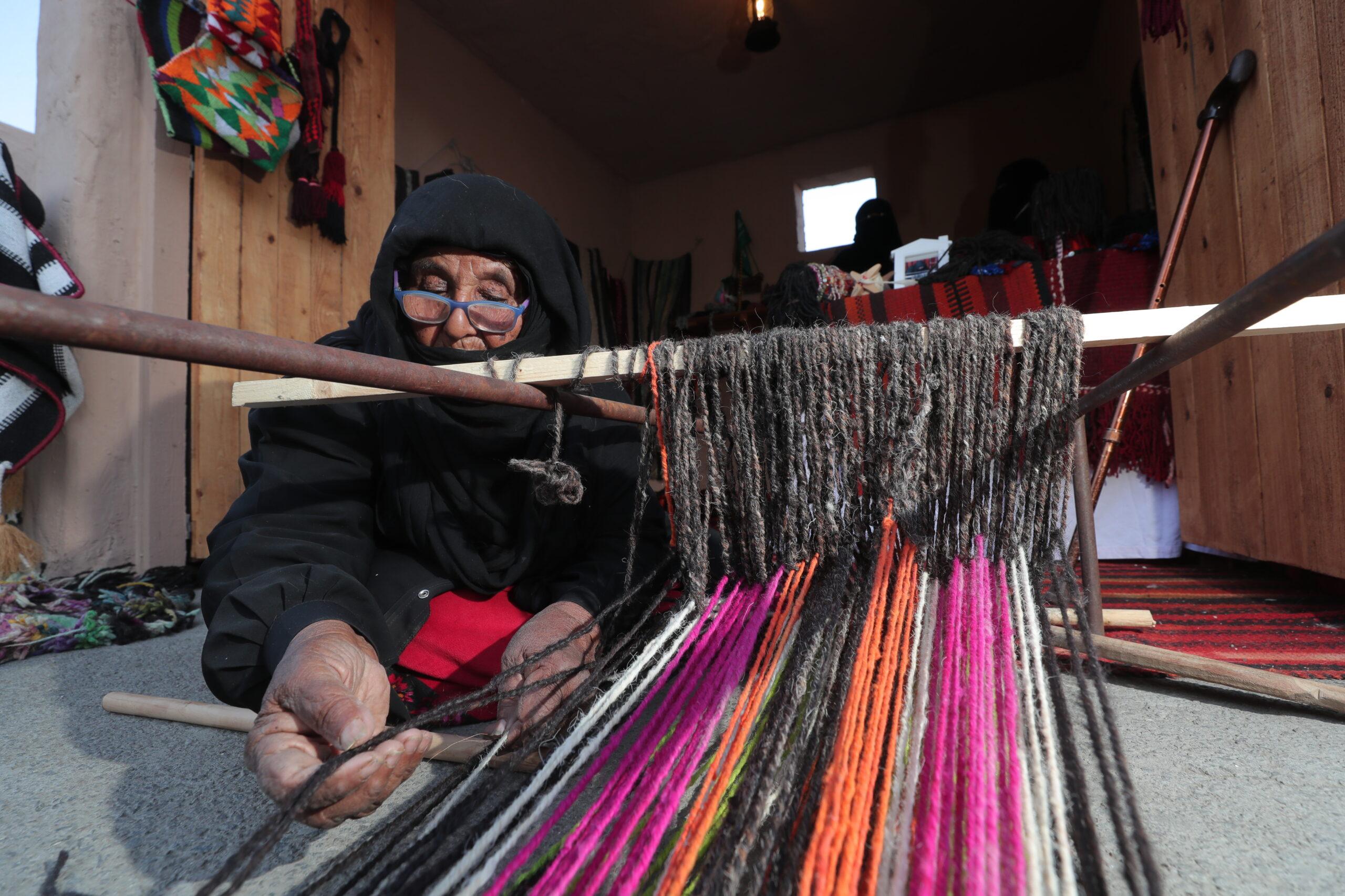 Traditional woollen weaving